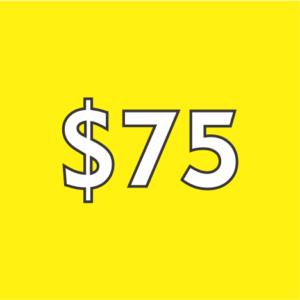 $75 Contribution