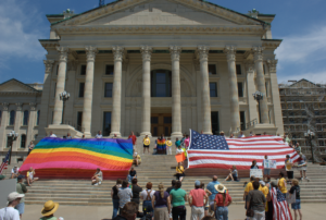 Rally at the Kansas Statehouse