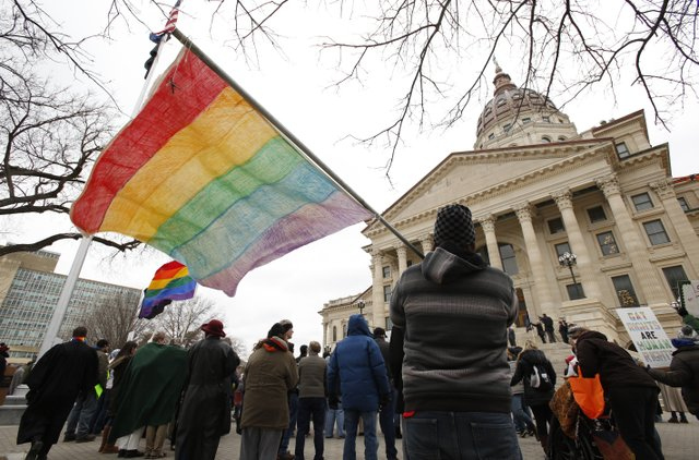 Equality Rally at the Kansas Statehouse